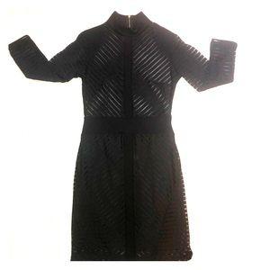 Sheer fashion nova dress.